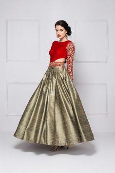 2 Color waist cut gown
