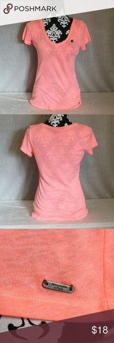 NWT Abercrombie & Fitch V-neck T-shirt Abercrombie & Fitch v-neck t-shirt, brand new with tags. Soft and lightweight tee. Nice bright, pretty color. Abercrombie & Fitch Tops Tees - Short Sleeve