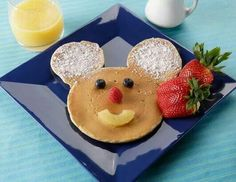 Cute Mickey Mouse alike pancake for kids!