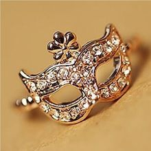 2014 New 17 mm size fashion rhinestone exquisite Mask ring jewelry Wholesale fashion exquisite Rhinestone ring for women R -80(China (Mainland))