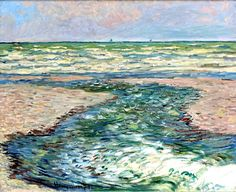 bofransson:    The Seacoast of Pourville low tide - Claude Monet