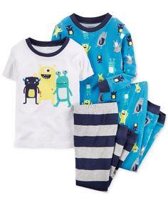 Carter's Little Boys' 4-Piece Monster Pajama Set