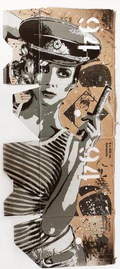 By Tankpetrol - Stencil and spray on flatten montana box - 2013