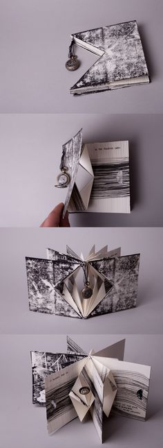 project developed whilst at Middlesex University. A project developed whilst at Middlesex University.,A project developed whilst at Middlesex University. Book Binding Design, Book Design, Paper Book, Paper Art, Libros Pop-up, Accordion Book, Book Folding, Book Projects, Handmade Books