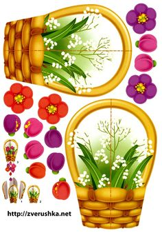 mobly Spring Art, Spring Crafts, Holiday Crafts, Diy And Crafts, Crafts For Kids, Paper Crafts, Bible Coloring Pages, Flower Clipart, Spring Activities