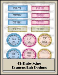 Oh Baby Mine Collection - Card Sentiments