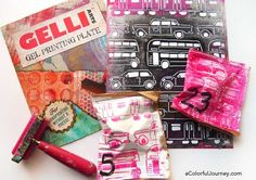 Video showing how to get use a Gelli Plate and a stencil to make wrapping paper and then create quick sewn pouches to wrap advent calendar gifts quickly!