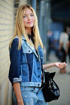 runwayandbeauty: Martha Hunt after Ralph Lauren SS 2014, NYFW Source: modelsjam