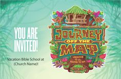 Journey Off The Map Vacation Bible School Theme | Postcard Invitation | LifeWay VBS 2015