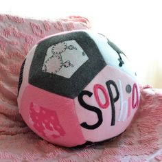 french poodle personalized ball