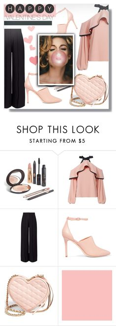 """happy valentine❤"" by omniaasaad ❤ liked on Polyvore featuring Alexis, Miss Selfridge, Halston Heritage, Rebecca Minkoff and Farrow & Ball"