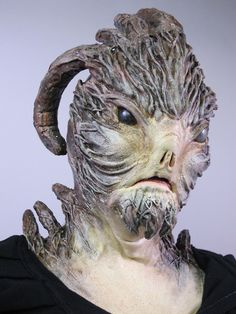 Body paint... Ram fish from Cinema Makeup School