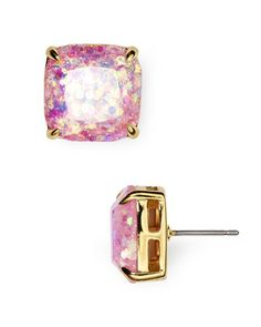"""kate spade new york Small Square Glitter Stud Earrings 