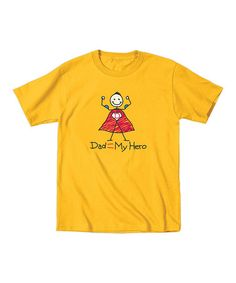 Look at this #zulilyfind! Yellow 'My Hero' Tee - Toddler & Boys #zulilyfinds