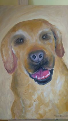 Labrador Dog Oil Painting