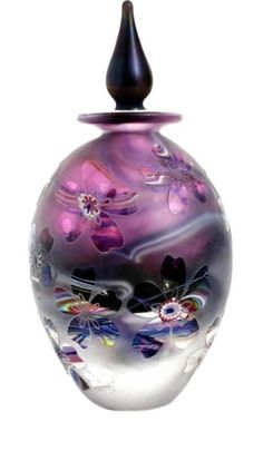 Crystal Cased Amethyst bottle by cristina... Gorgeous ....the colour movement is exquisite...