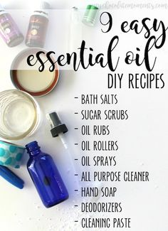 9 super easy home and beauty DIY essential oil recipes that anyone can make!