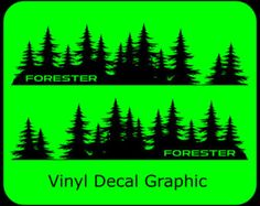Subaru Decal custom vinyl Door graphic Forest Silhouette Tree sticker WRX Forester Impreza BRZ Legacy Outback Tribeca Crosstrek by FinishingTouchVinyls