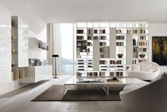 An Italian design for an elegant contemporary living - Haus Dekorationen Living Haus, Home And Living, Modern Living, Interior Architecture, Interior Design, Interior Ideas, Style Minimaliste, Stylish Home Decor, Stylish Interior