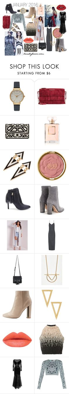 """January 2016 Fashion Trends"" by bandvfavor on Polyvore featuring Olivia Burton, Burberry, Chanel, Milani, Gianvito Rossi, Missguided, rag & bone, Chicnova Fashion, Qupid and Anna Beck"