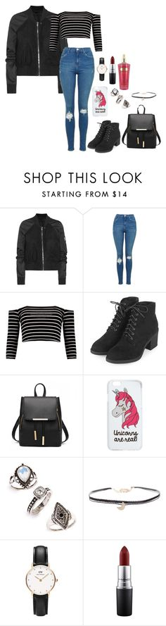"""""""My kind of dream"""" by shay-trio-of-three-o on Polyvore featuring Rick Owens, Topshop, Miss Selfridge, Humble Chic, Daniel Wellington and MAC Cosmetics"""