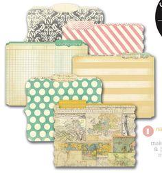 Heidi Swapp - Memory File Collection - Die Cut File Folders - Memory Files - Mini at Scrapbook.com $5.99