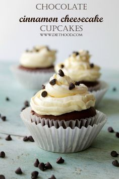 Chocolate Cinnamon Cheesecake Cupcake