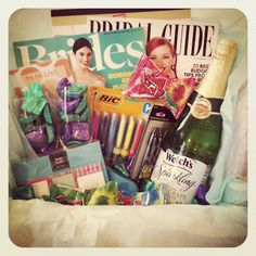 Engaged Basket! A fun basket to make for a friend who is newly engaged!