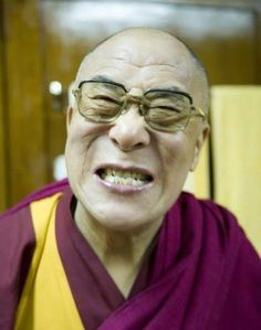 Playful HH Dalai Lama