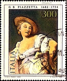 Italy.  PAINTINGS BY GB PIAZETTA (1682-1754), THE FORTUNE.  Scott  1532 A738, Issued  1982 Nov 3,  Perf. 14,  Litho. & Engr.,  200. /ldb.