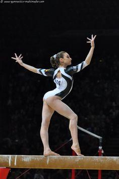 gymnast performing on balance beam, gymnastics Gymnastics Moves, Gymnastics Posters, Amazing Gymnastics, Gymnastics Photography, Gymnastics Pictures, Sport Gymnastics, Artistic Gymnastics, Olympic Gymnastics, Rhythmic Gymnastics