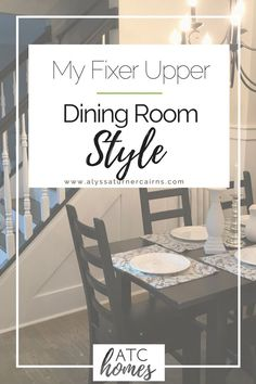 Is there a room in your home that just doesn't quite fit? Check out how I added awesome farmhouse style to our dining room with faux board and batten wainscoting! It made a huge difference, and was way under budget! Click through to read the whole story :)