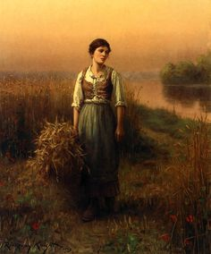 The Athenaeum - Normandy Maid (Daniel Ridgway Knight - )