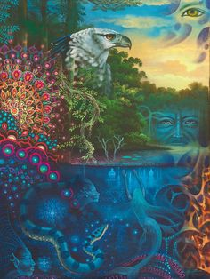 Welcome to PlantTeachers and Visionary Convergence online art gallery. Psychedelic Art, Illustrations, Illustration Art, Art Visionnaire, Psy Art, Spirited Art, Hippie Art, Visionary Art, Online Art Gallery