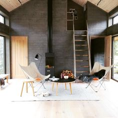 """""""From shoot last week with superstylist for designed by Long House, Compact Living, Cabin Design, House And Home Magazine, Industrial Chic, Prefab, Scandinavian Cottage, Outdoor Furniture, Outdoor Decor"""