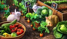 Gardens of Time | Bunny Vegetable Patch