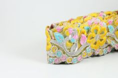 Cut Work Fabric Trim Embroidered Floral by ArtsyCraftsyShoppe