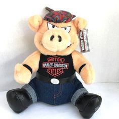 "Harley Davidson Motorcycles Stuffed Animal Hog Pig Toy 11"" #HarleyDavidson #50percentoffsale"