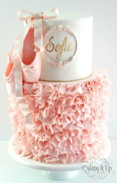 Cake with ballet shoes