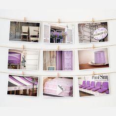 Paris Postcard Collection Purple by The Paris Print Shop | Fab.com