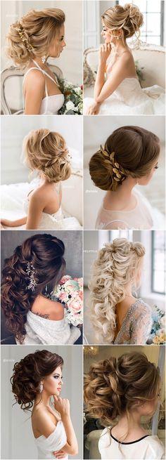 Featured Hairstyle: Elstile; www.elstile.ru; Wedding hairstyle idea.