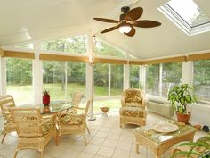 The skylights in the Ultra Living Sun and Shade Cathedral Room help bring natural light into interior rooms.
