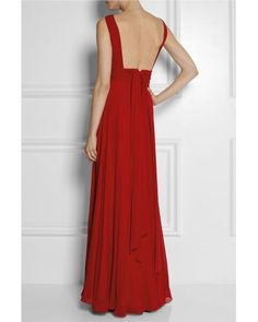 Buy Saint Laurent Women's Red Hand-pleated Silk-georgette Gown, starting at £3630. Similar products also available. SALE now on!