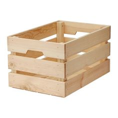 IKEA KNAGGLIG box You can save space by stacking 2 boxes on top of one another.