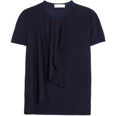 Tory Burch Tabia ruffled silk and cashmere-blend sweater