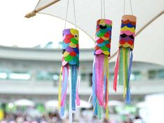 Carillons Diy, Diy Crafts For Kids Easy, Diy Wind Chimes, Toilet Paper Roll, Recycled Crafts, Kids Playing, Activities For Kids, Arts And Crafts, Crafty