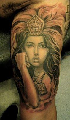 Aztec Princess Tattoos 35