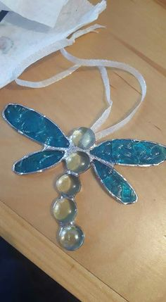Dragonfly from pebbles