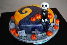 The Nightmare Before Christmas Cake! - The Nightmare Before Christmas themed CAKE! A Tim Burton themed Cake! A Jack Skellington Cake!