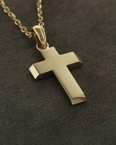 Σταυρός χρυσός Κ14 Mens Gold Diamond Rings, Little Man, Designer Earrings, Cross Pendant, Crosses, Christening, Supernatural, Jewelery, Prince